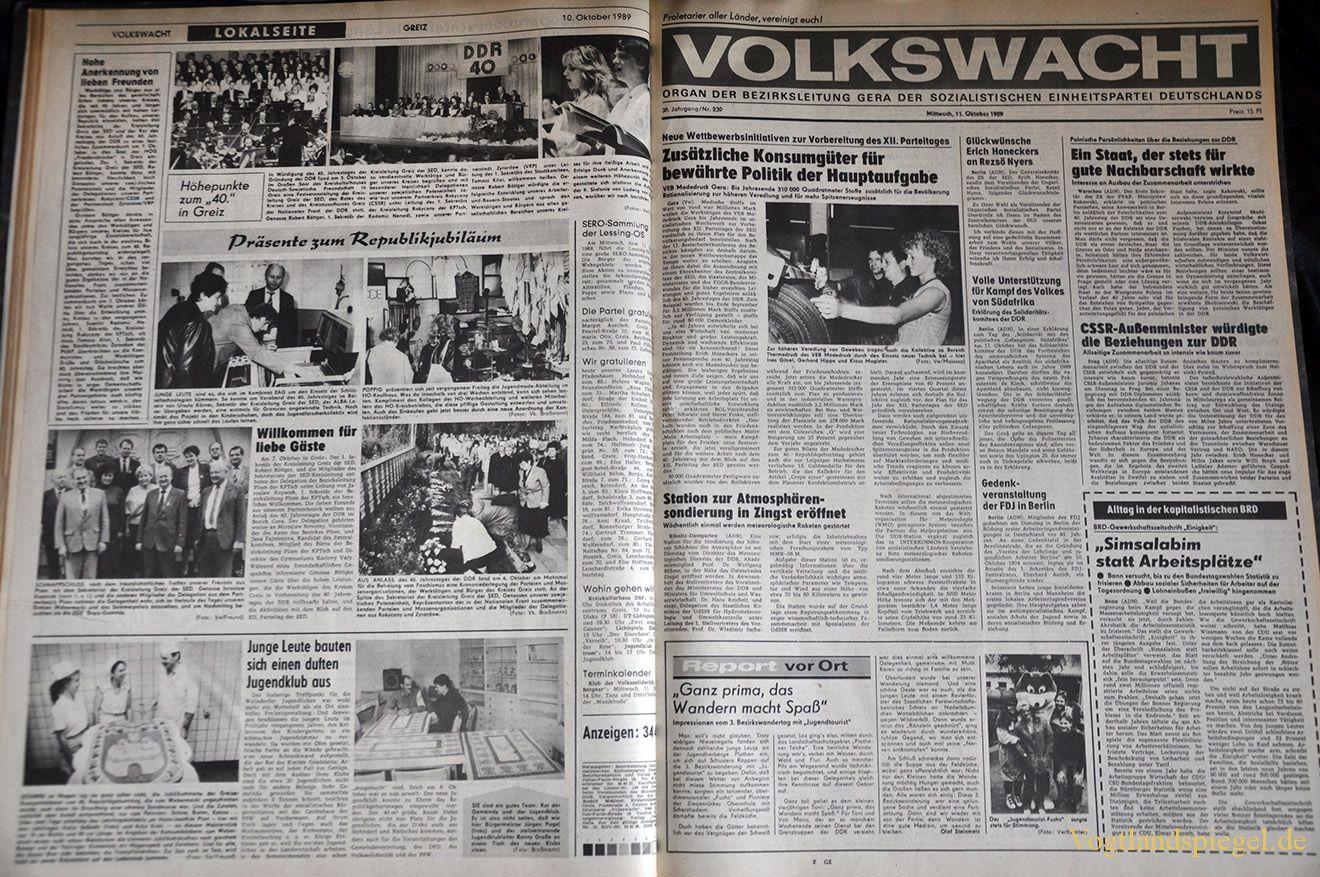 Volkswacht vom 10.10.1989