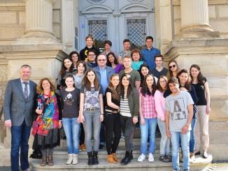 Italienische Gastschüler herzlich am Ulf-Merbold-Gymnasium begrüßt