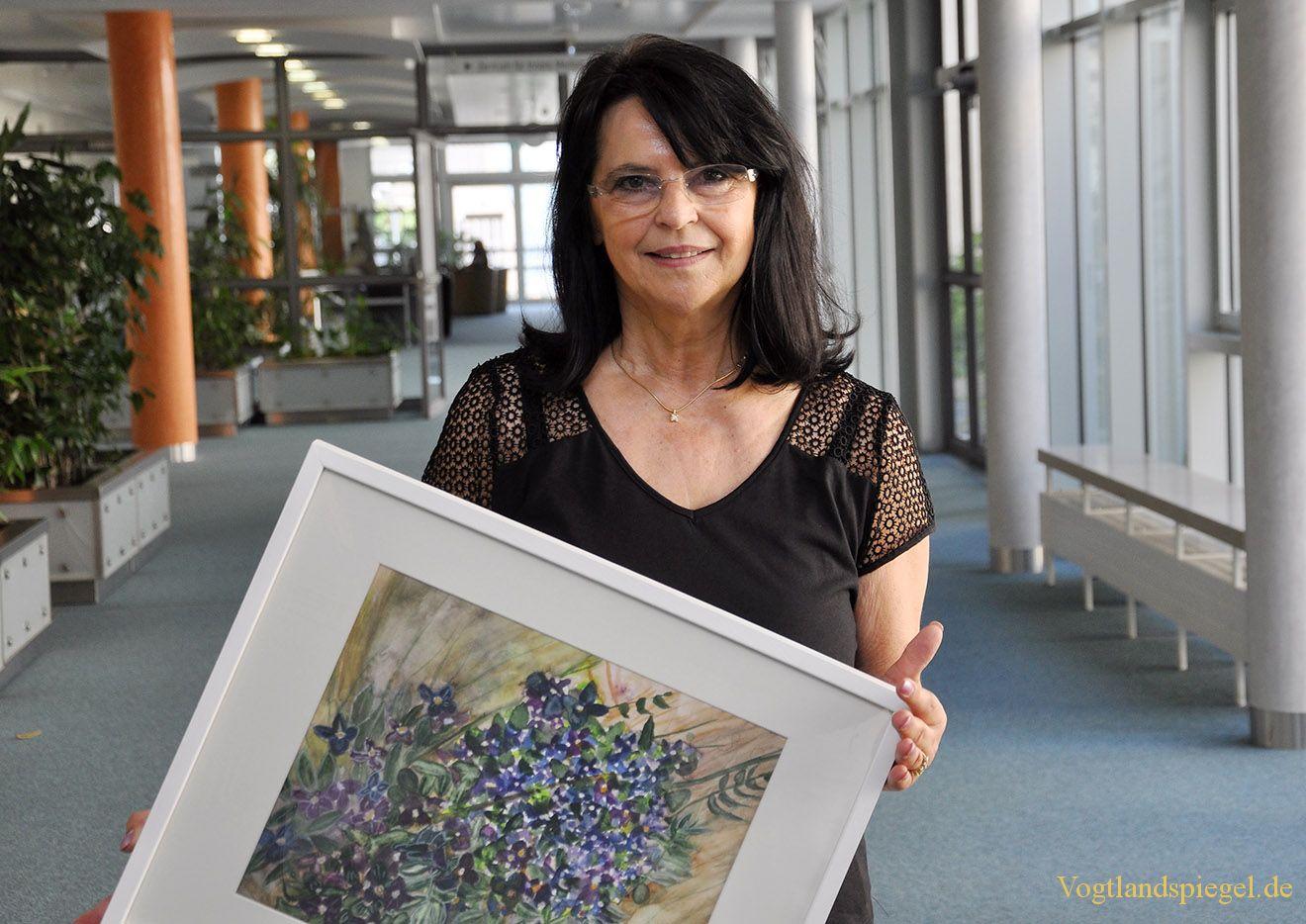 Ingrid Trautlofft stellt im Kreiskrankenhaus Greiz aus