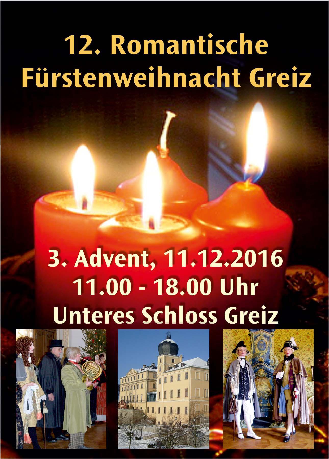 12. Romantische Fürstenweihnacht im Unteren Schloss